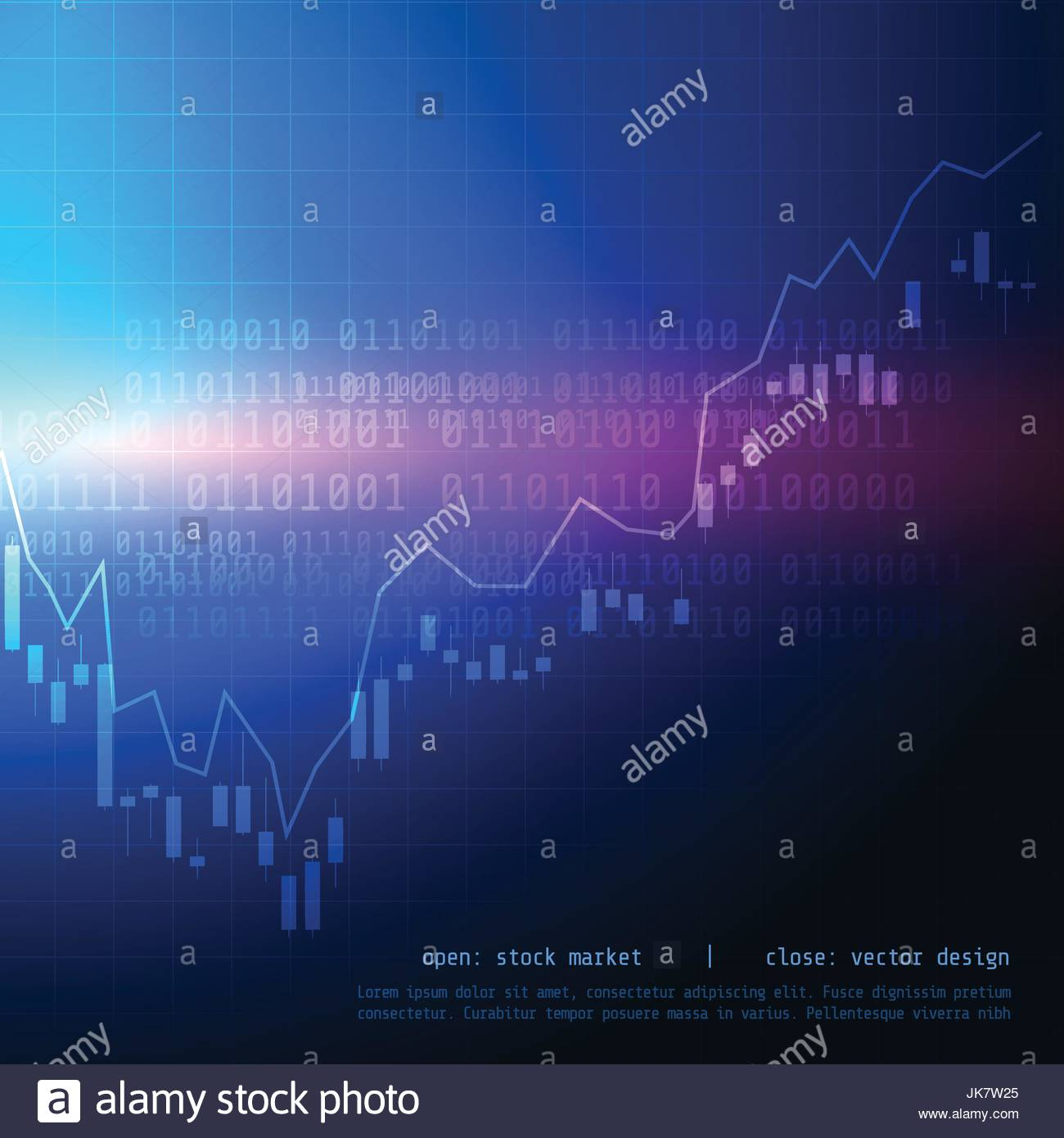 candle stick stock market trading chart with bullish high and bearish low point - Stock Vector