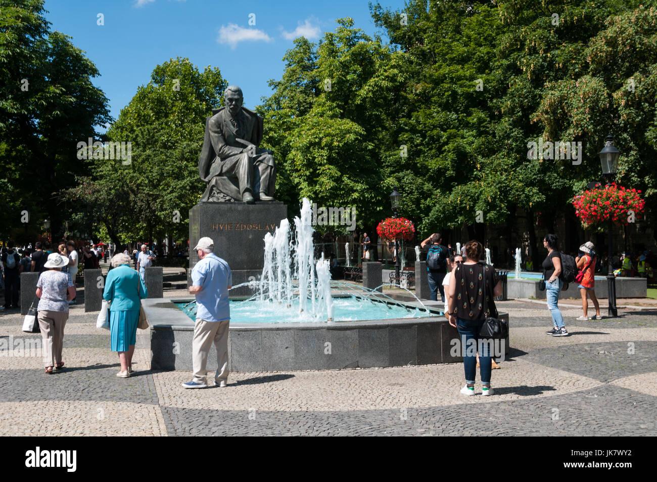 The statue of Hviezdoslav, Bratislava, Slovakia - Stock Image