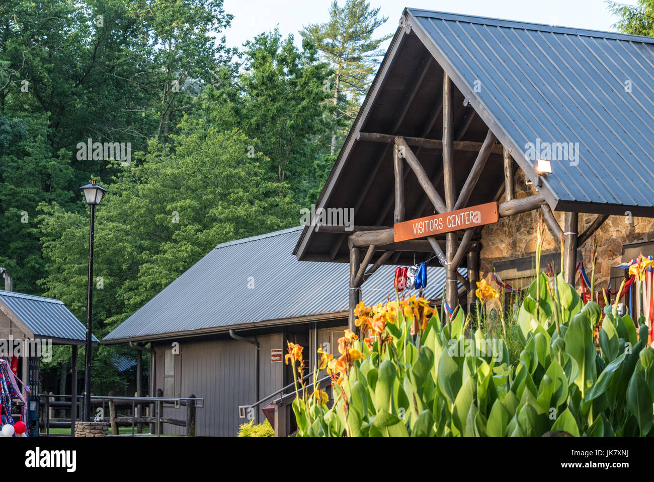 Visitor Center at Vogel State Park in the Blue Ridge Mountains of Northeast Georgia. (USA) - Stock Image