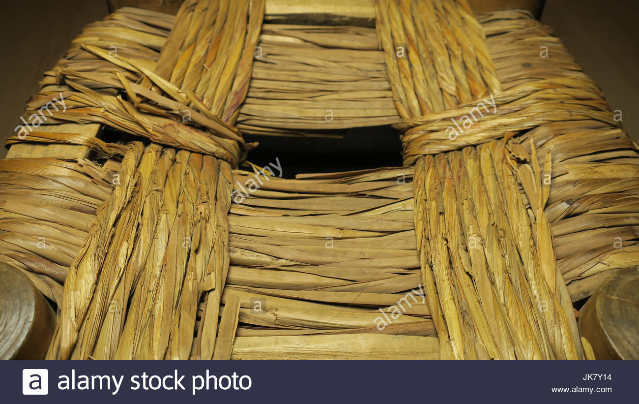 Wicker chair top - Stock Image