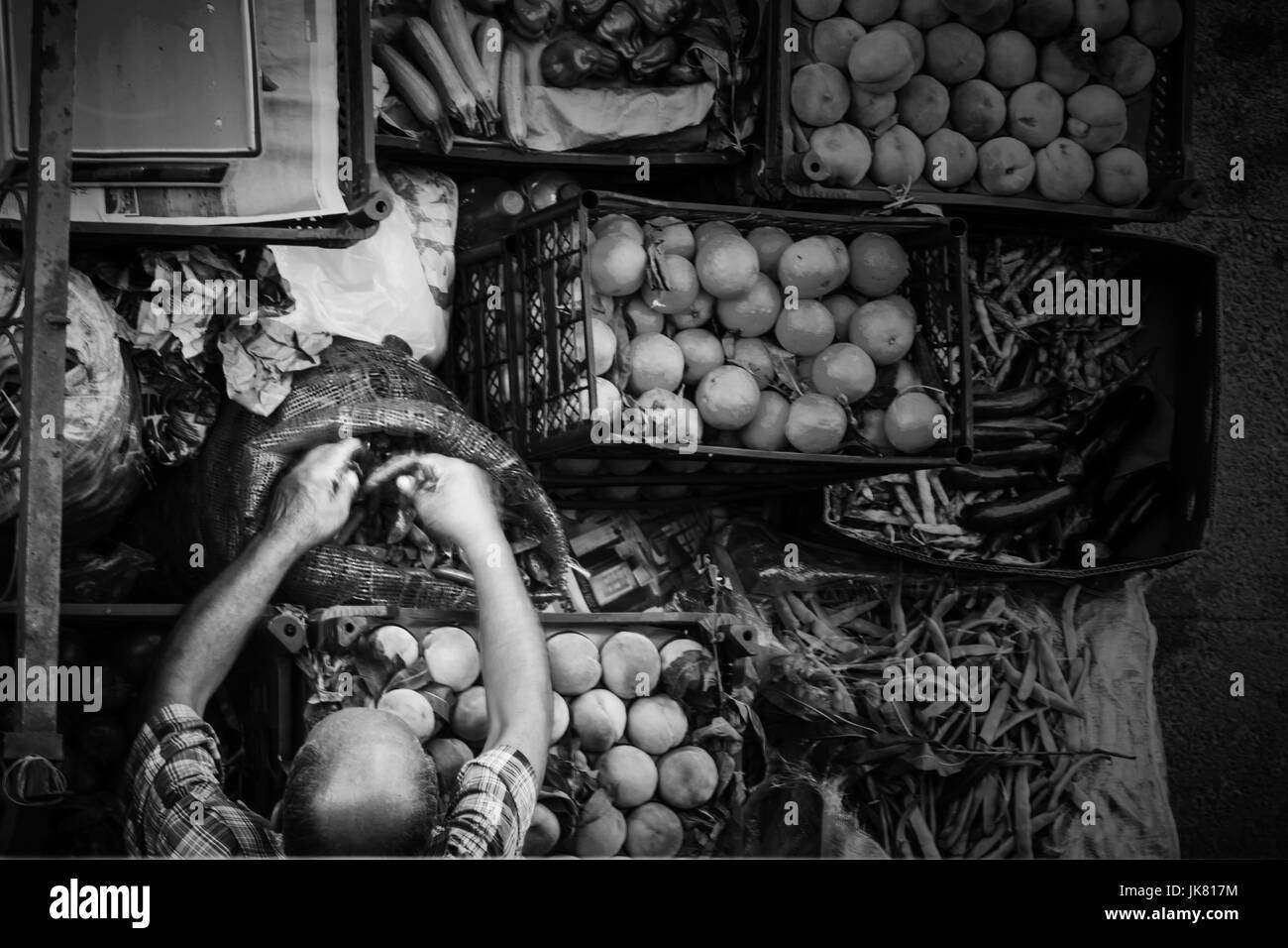 Fruit and vegetable black and white stock photos images alamy