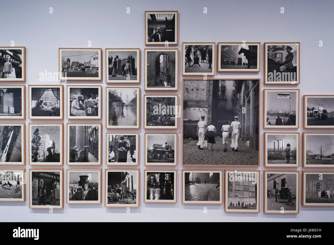 Spain, Madrid, Atocha Area, Centro de Arte Reina Sofia museum, exhibit of 1950s-era photographs by Catalan photographer - Stock Image