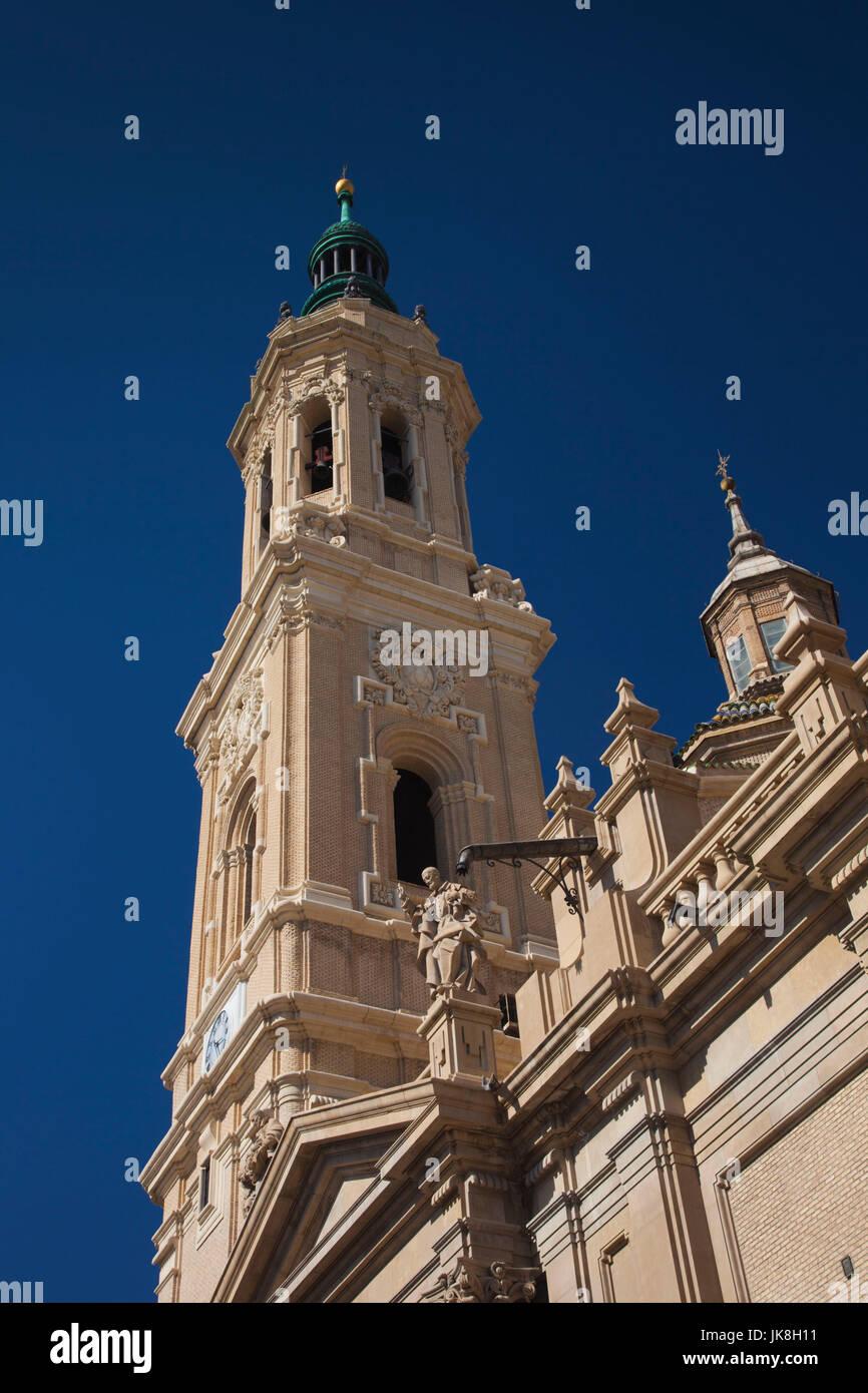 Spain, Aragon Region, Zaragoza Province, Zaragoza, Basilica de Nuestra Senora del Pilar - Stock Image