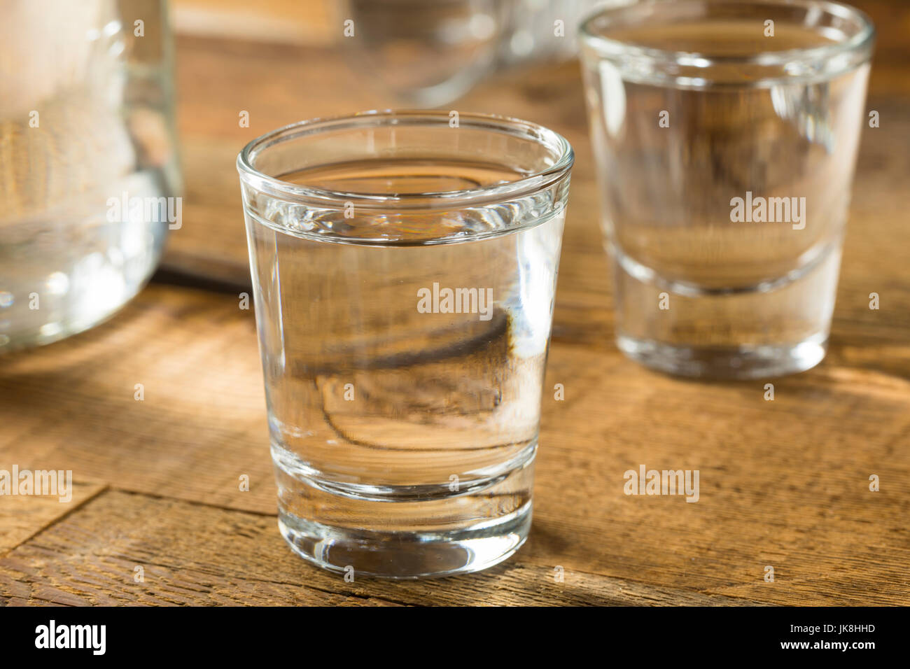Boozy Alcoholic American Moonshine Shots Ready to Drink - Stock Image