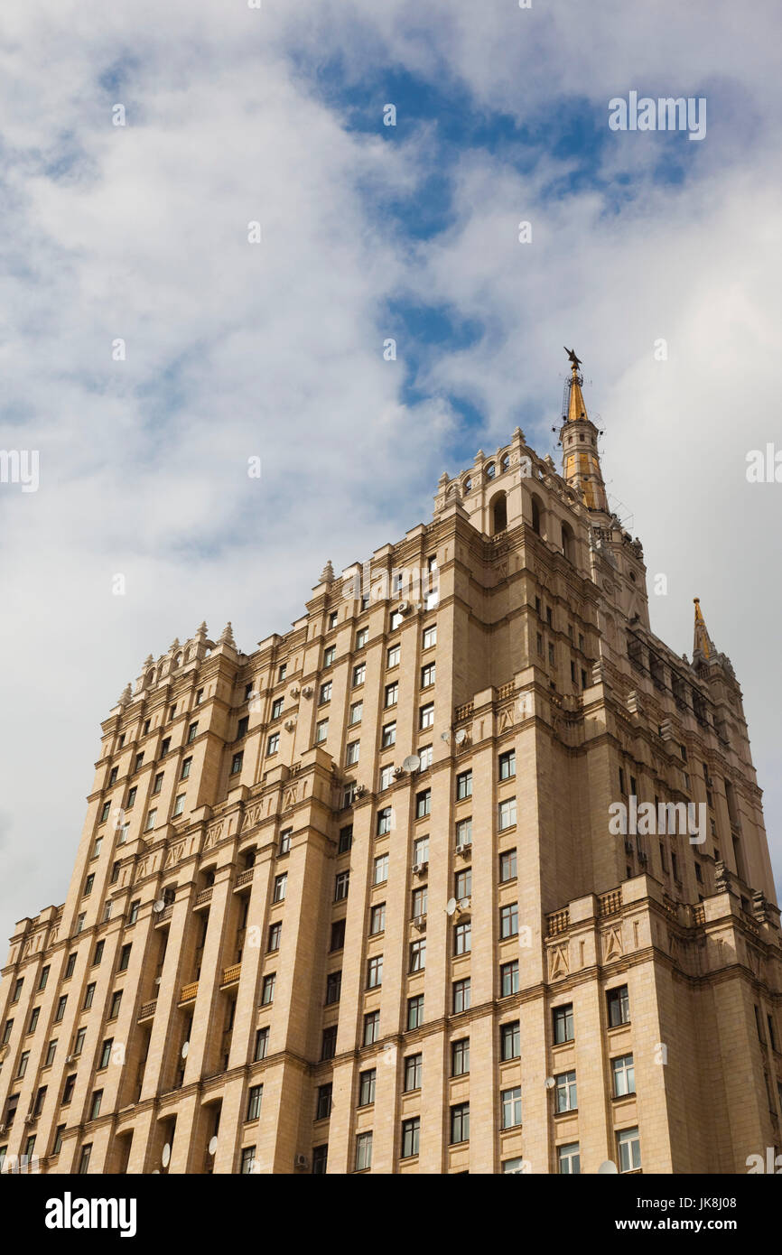 Russia, Moscow Oblast, Moscow, Presnya-area, one of the Stalin Seven Sisters buildings at Kudrinskaya Square Stock Photo