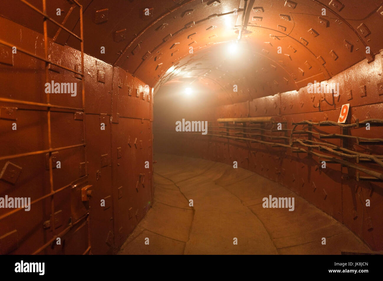 Russia, Moscow Oblast, Moscow, Taganka-area, ZKP Tagansky Cold War Museum, underground communication bunker, tunnel - Stock Image
