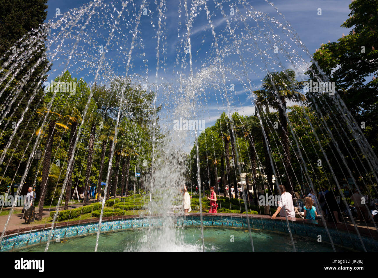 Russia, Black Sea Coast, Sochi, Riviera Park - Stock Image