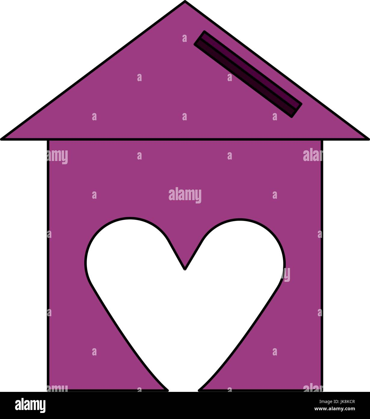 Sweet home symbol - Stock Vector