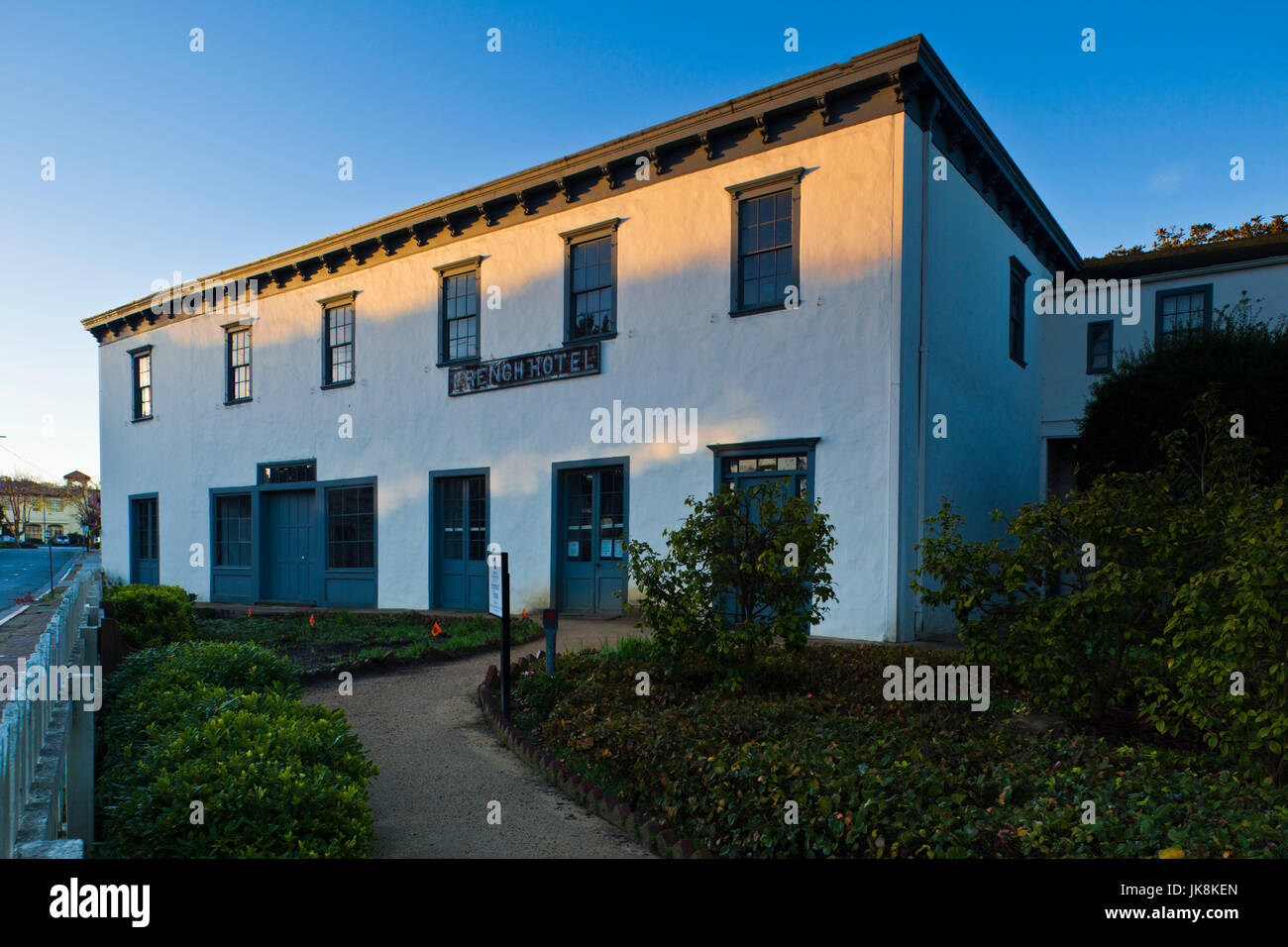 USA, California, Central Coast, Monterey, Stevenson House, formerly the French Hotel, building where Robert Louis - Stock Image