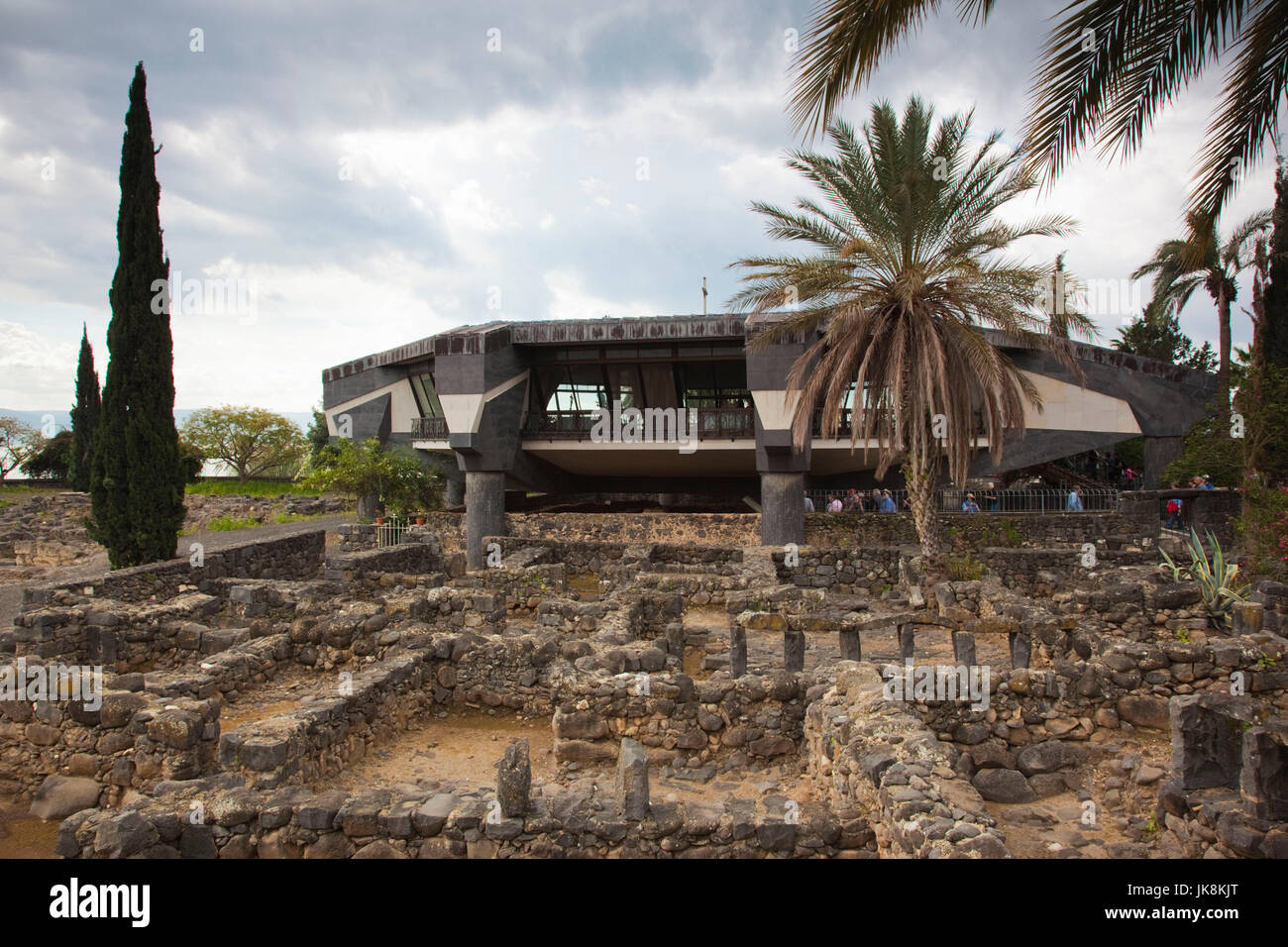 Israel, The Galilee, Capernaum, ruins of biblical-era village home to Jesus Christ during his time in the Galilee Stock Photo
