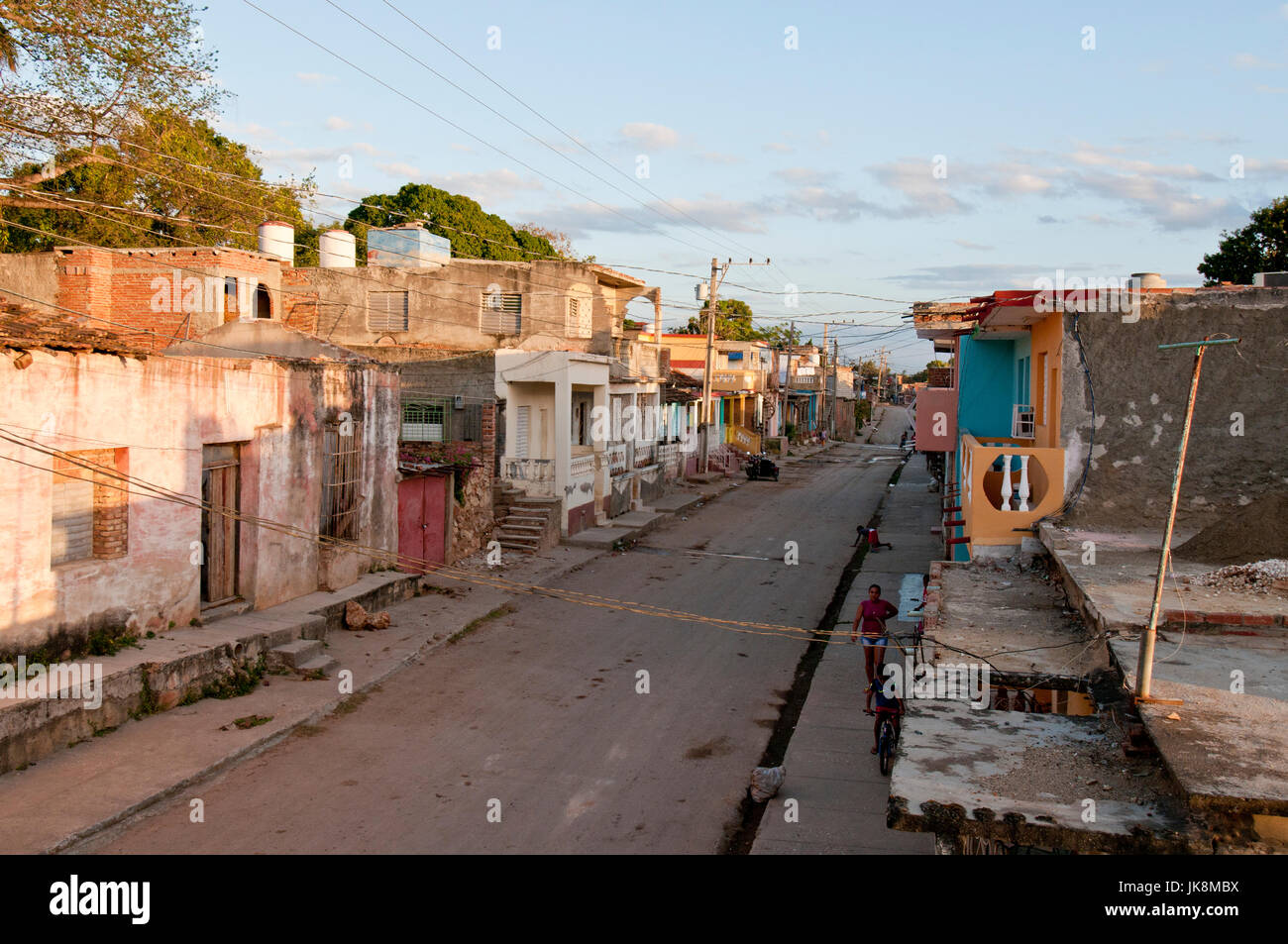 run-down section of Trinidad Cuba - Stock Image