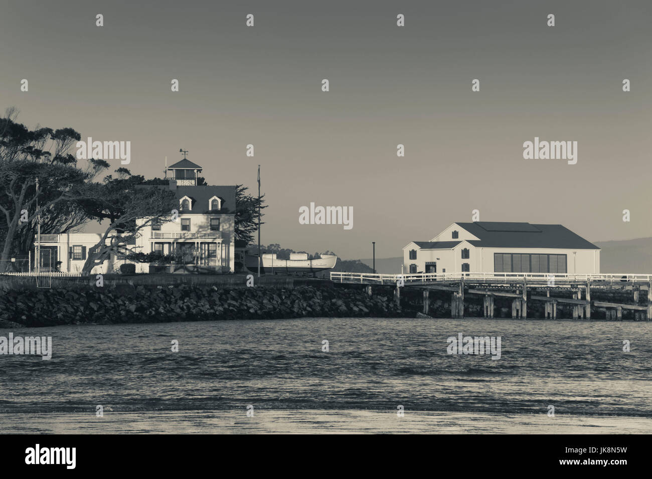 USA, California, Northern California, North Coast, Samoa, US Coastguard Station, Humbolt Bay - Stock Image