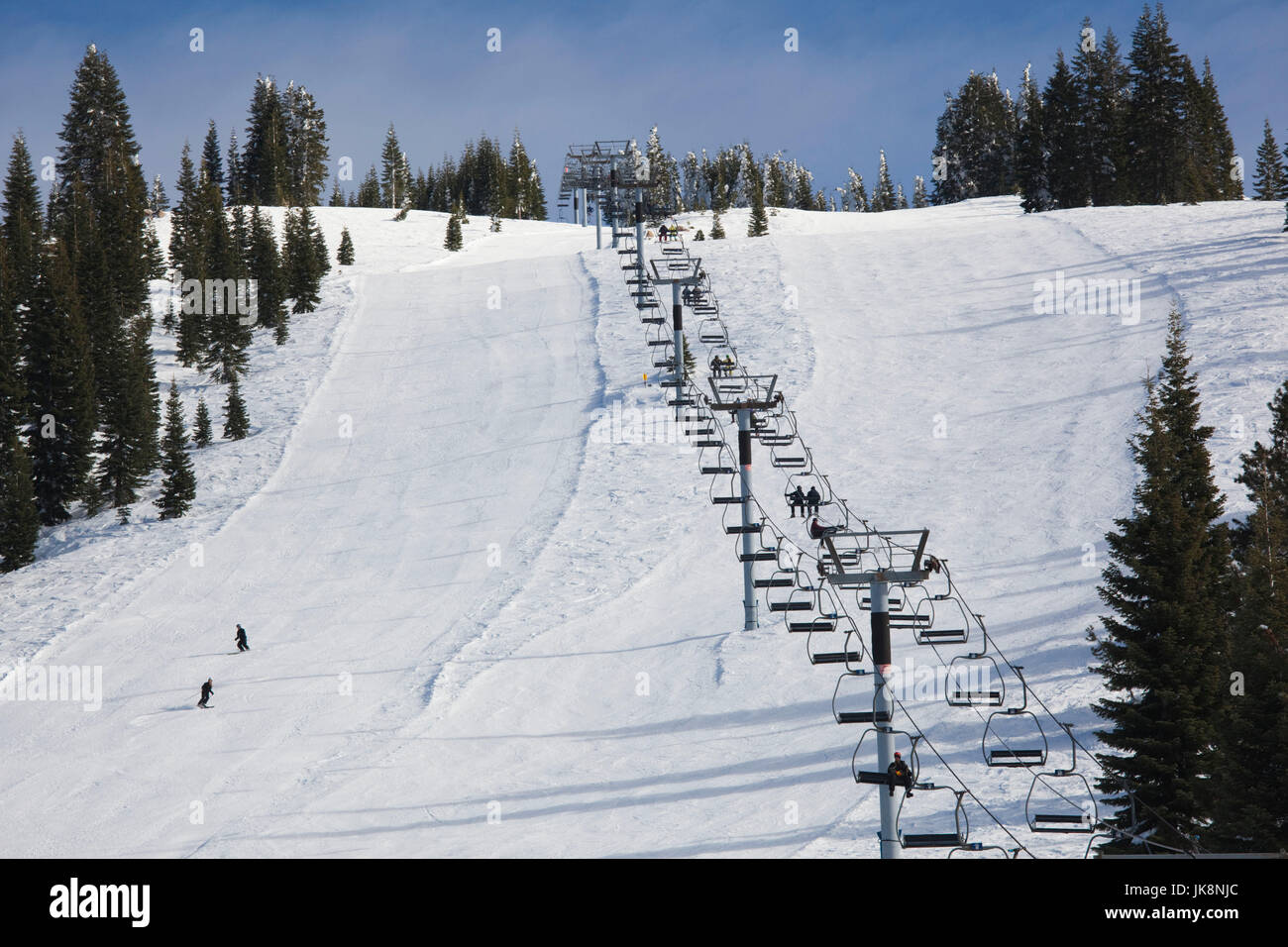 USA, California, Northern California, Northern Mountains, Mount Shasta, Mount Shasta Ski Area - Stock Image