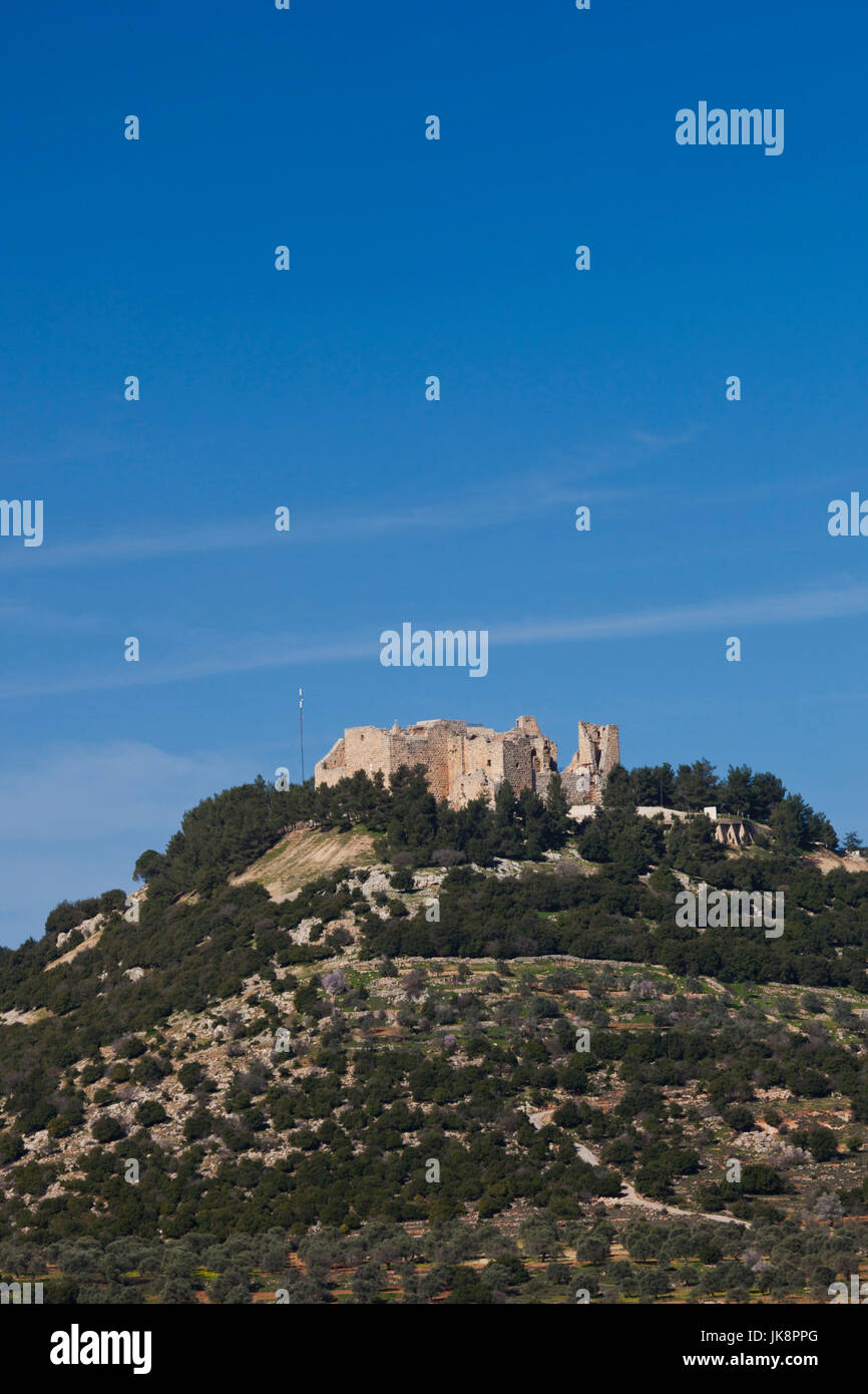 Jordan, Ajloun, Ajloun Castle, Qala-at Ar-Rabad, built 1188, exterior Stock Photo