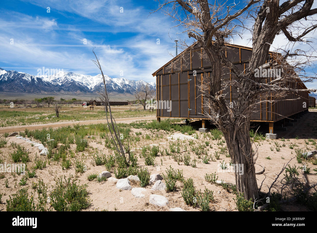 USA, California, Eastern Sierra Nevada Area, Independence, Manzanar National Historic Site, site of World War Two - Stock Image