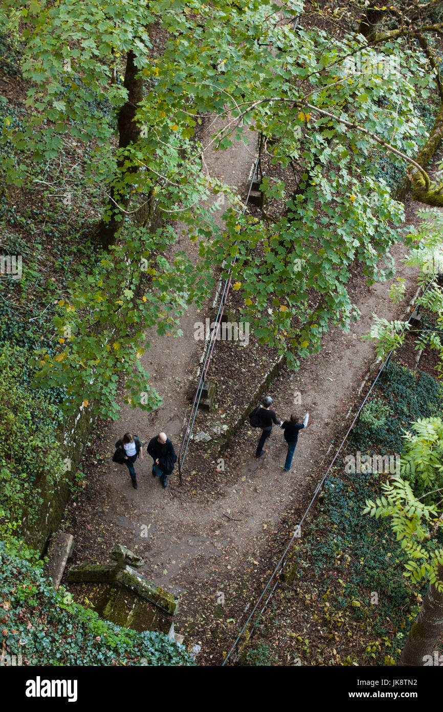 France, Midi-Pyrenees Region, Lot Department, Rocamador, Stations of the Cross, path to the chateau Stock Photo