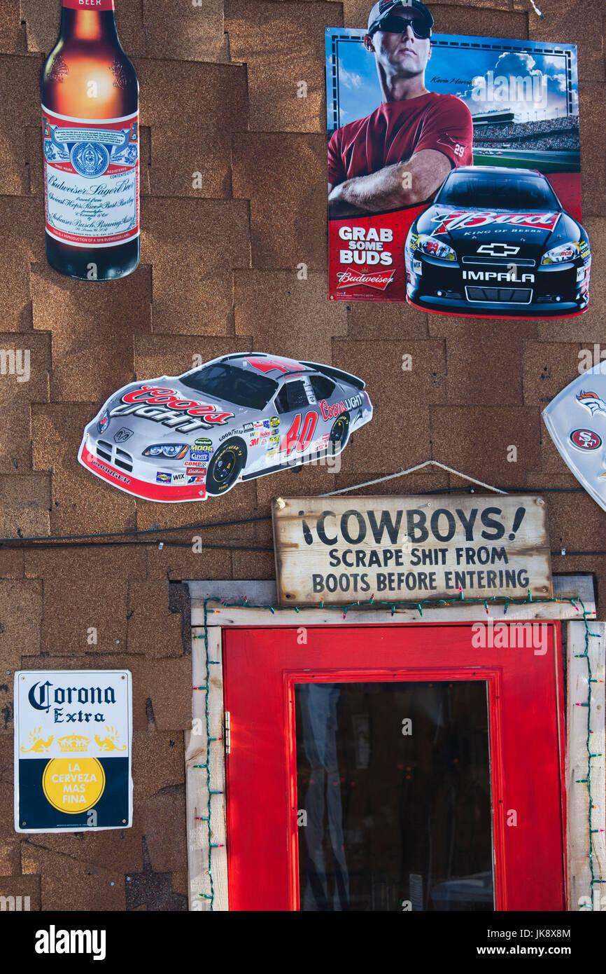 USA, Colorado, Fairplay, exterior of Western bar - Stock Image