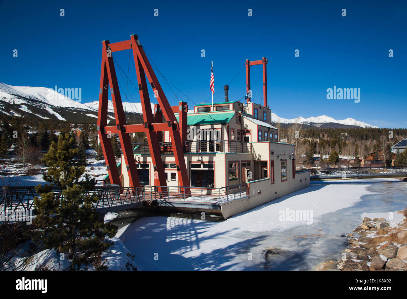 Usa Colorado Breckenridge The Dredge Restaurant Winter