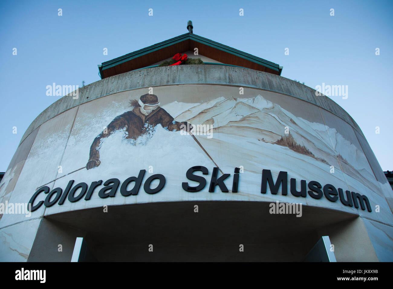 USA, Colorado, Vail, Colorado Ski Museum - Stock Image