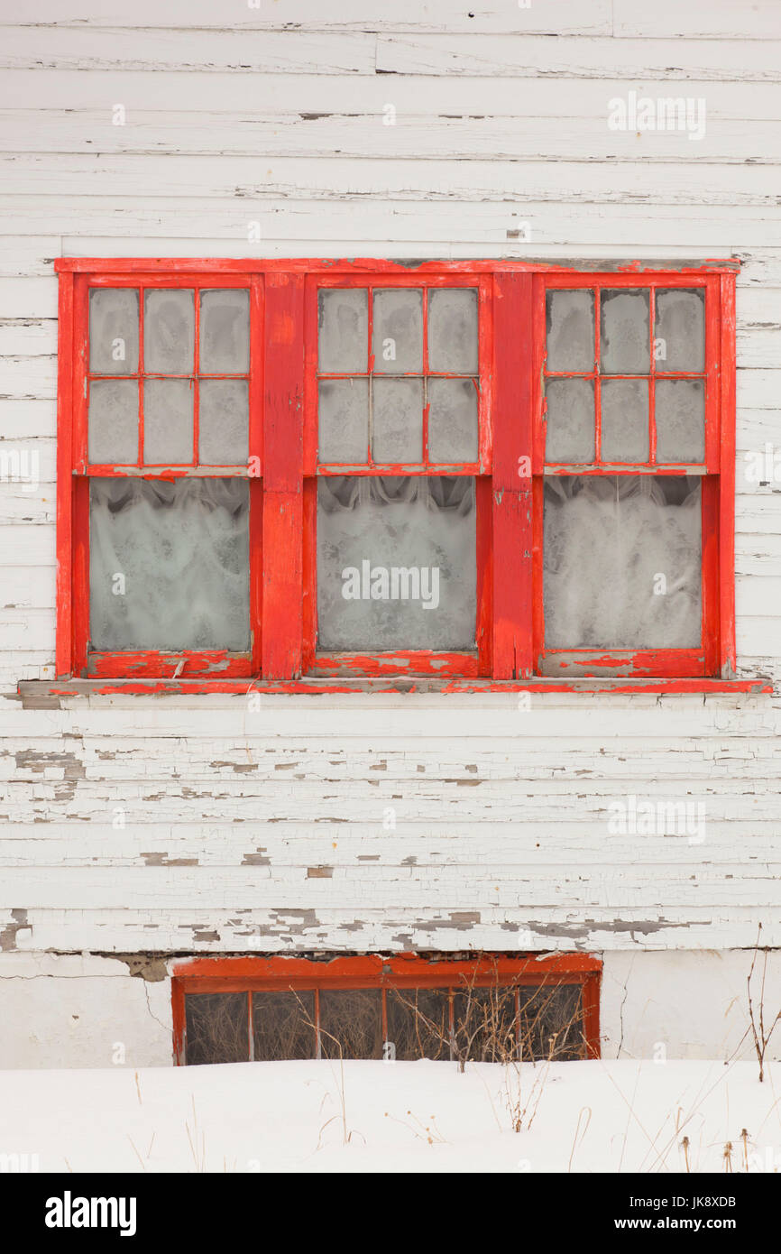 USA, Colorado, Crested Butte, house detail, winter - Stock Image