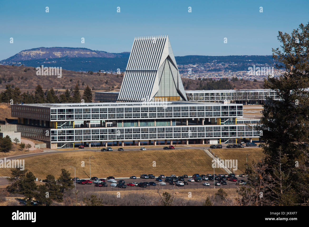 USA, Colorado, Colorado Springs, United States Air Force Academy, exterior - Stock Image
