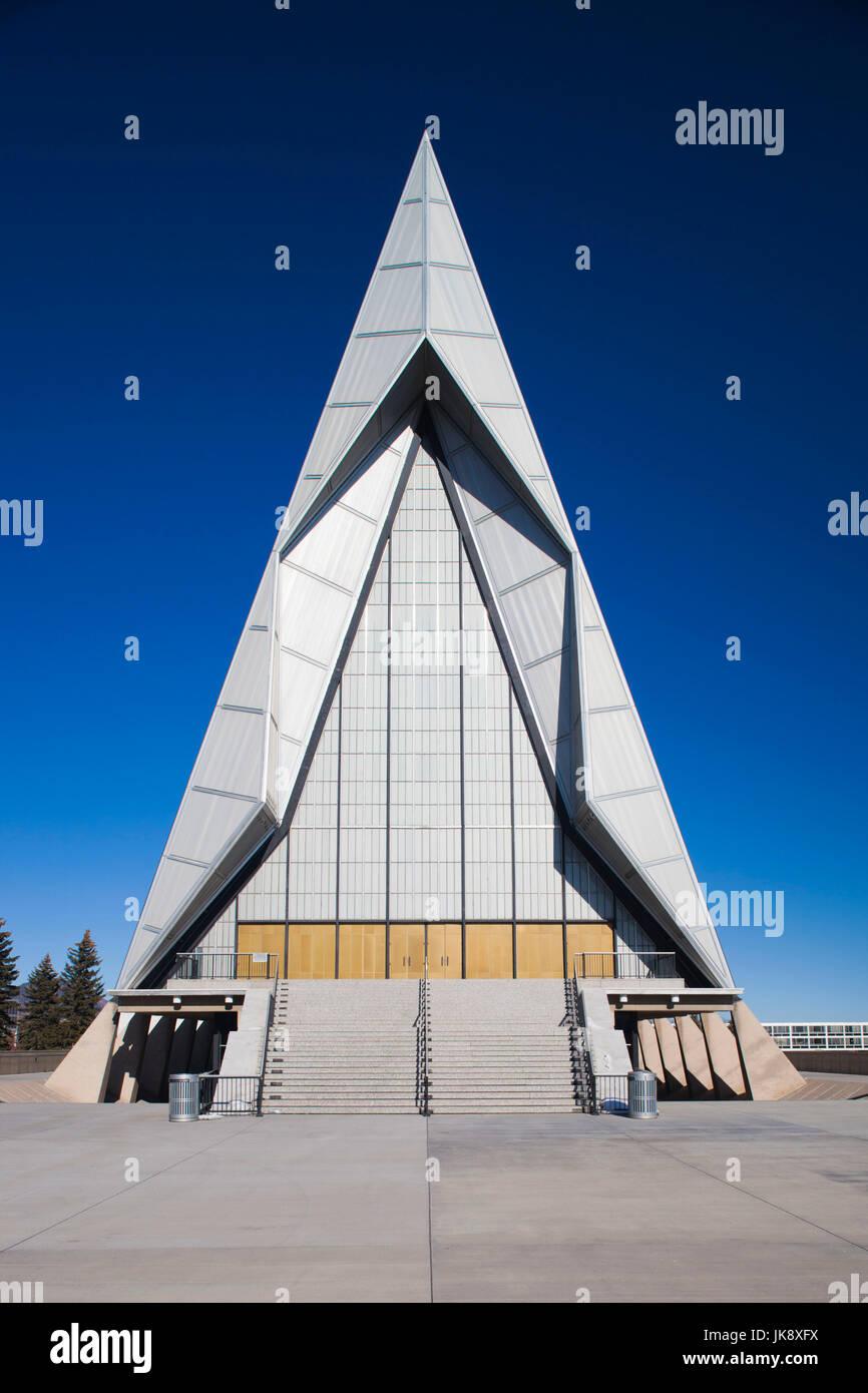 USA, Colorado, Colorado Springs, United States Air Force Academy, Cadet's Chapel, exterior - Stock Image