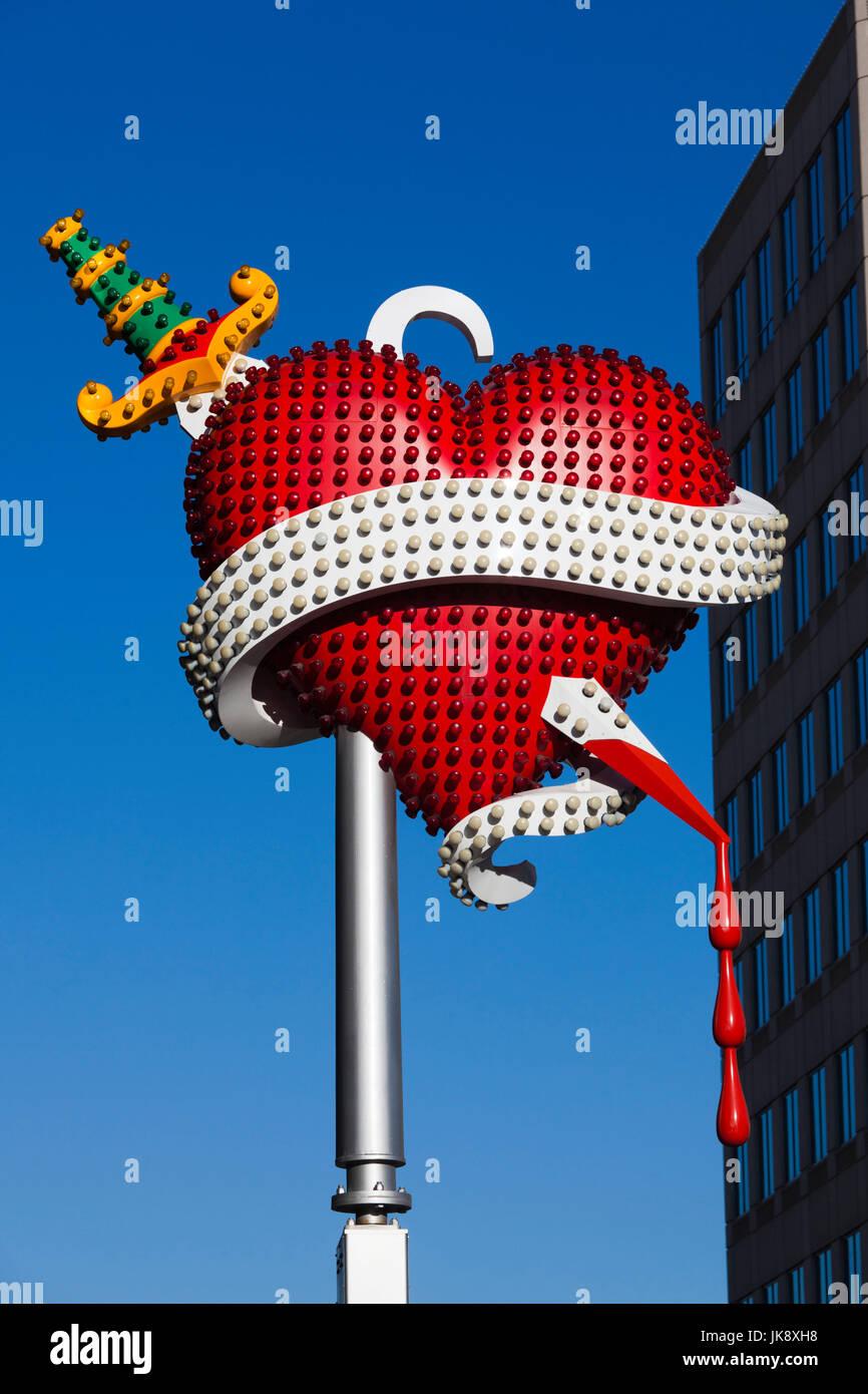 USA, Colorado, Denver, Museum of Contemporary Art Denver, MCA, Toxic Schizophrenia, sculpture by Tim Noble and Sue - Stock Image