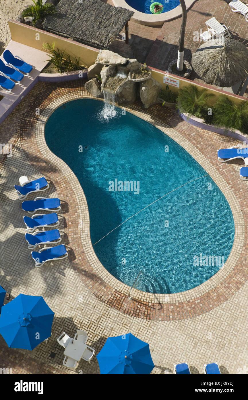 Mexiko, Sinaloa, Mazatlan, Zona Dorada, Playa Las Gaviotas, Hotel Las Flores, Hotelpool, Stock Photo