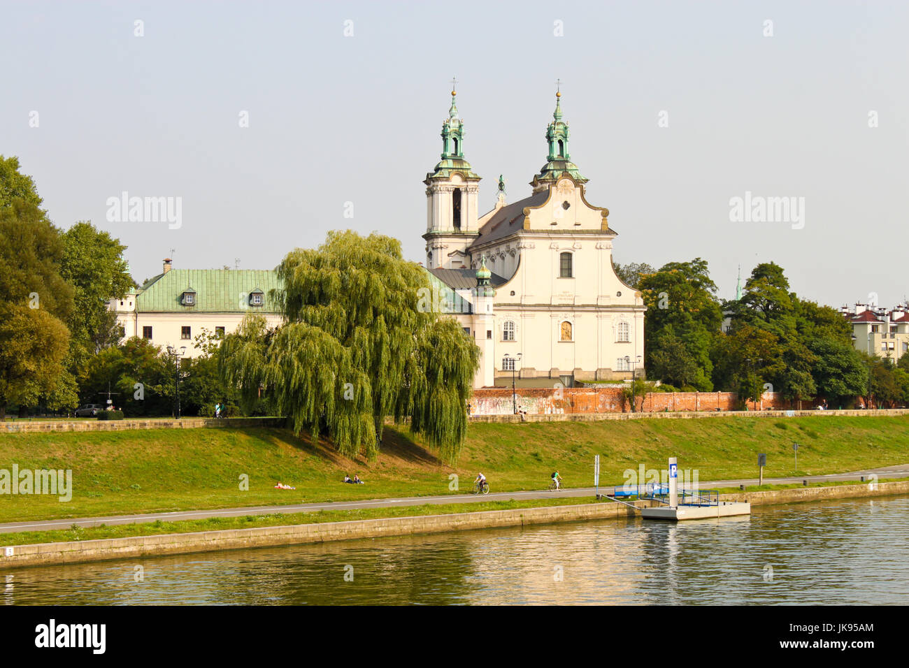 Church of St Michael the Archangel and St Stanislaus Bishop and Martyr and Pauline Fathers Monastery over Vistula - Stock Image