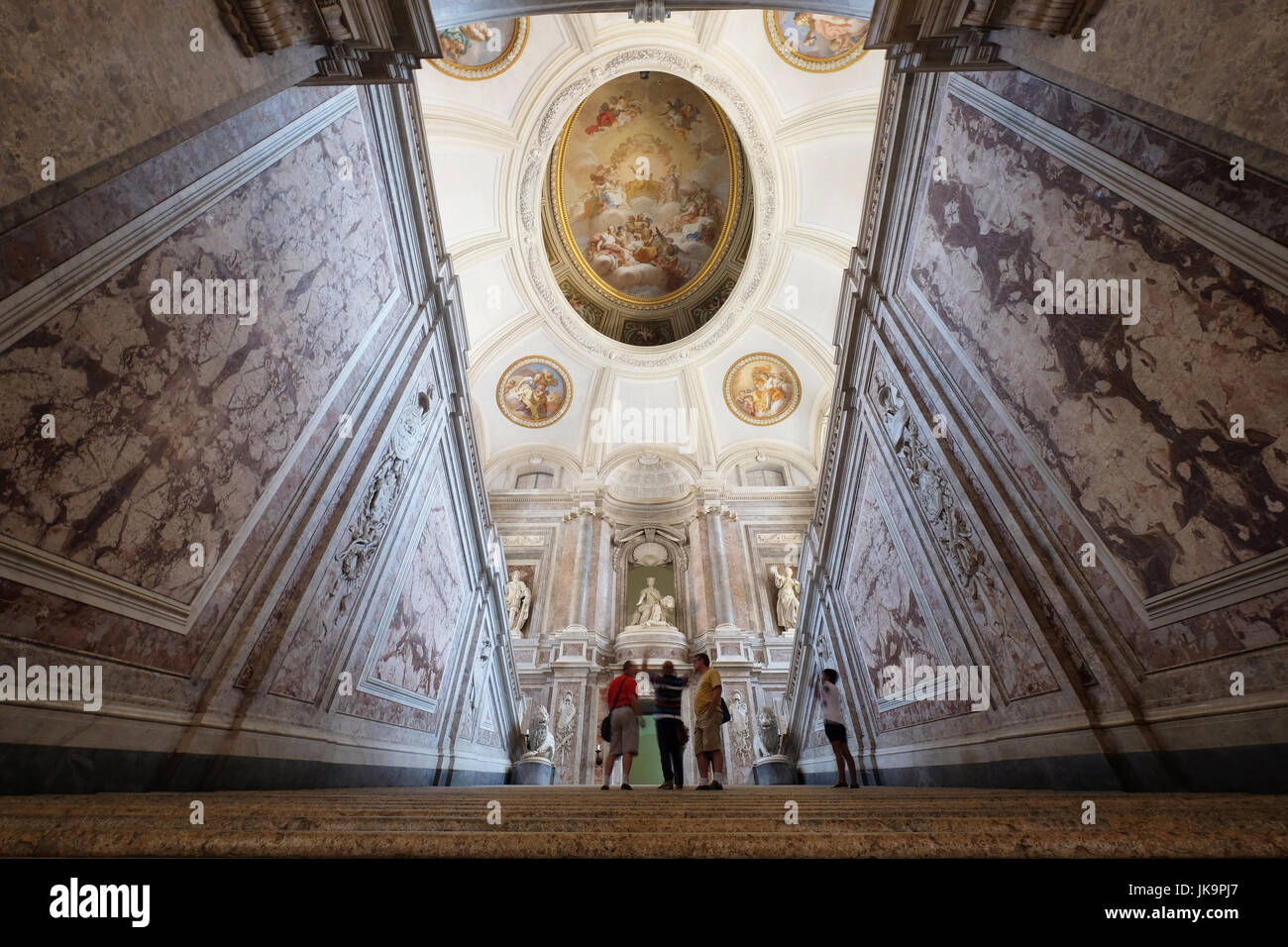 Royal Palace ( Reggia Di Caserta) The Stairway Of Honour ,Campania,Italy Stock Photo