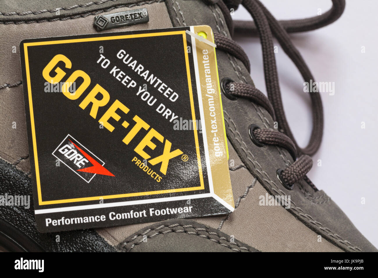 b392174629a Guaranteed to keep you dry label on Hotter Gore-tex walking shoes ...
