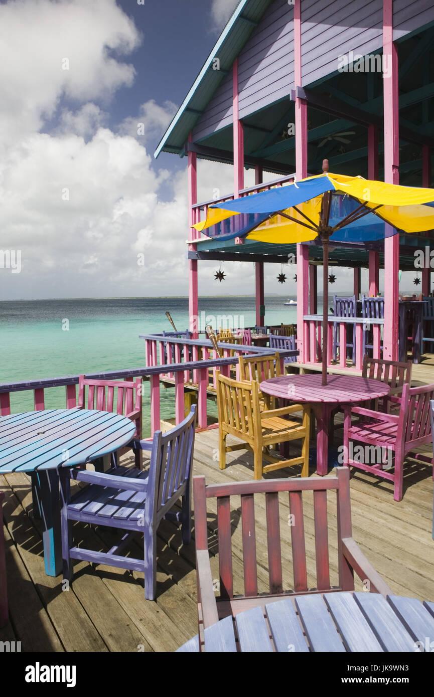Bonaire Kralendijk Divi Flamingo Resort Meer Strand Restaurant Stock Photo Alamy