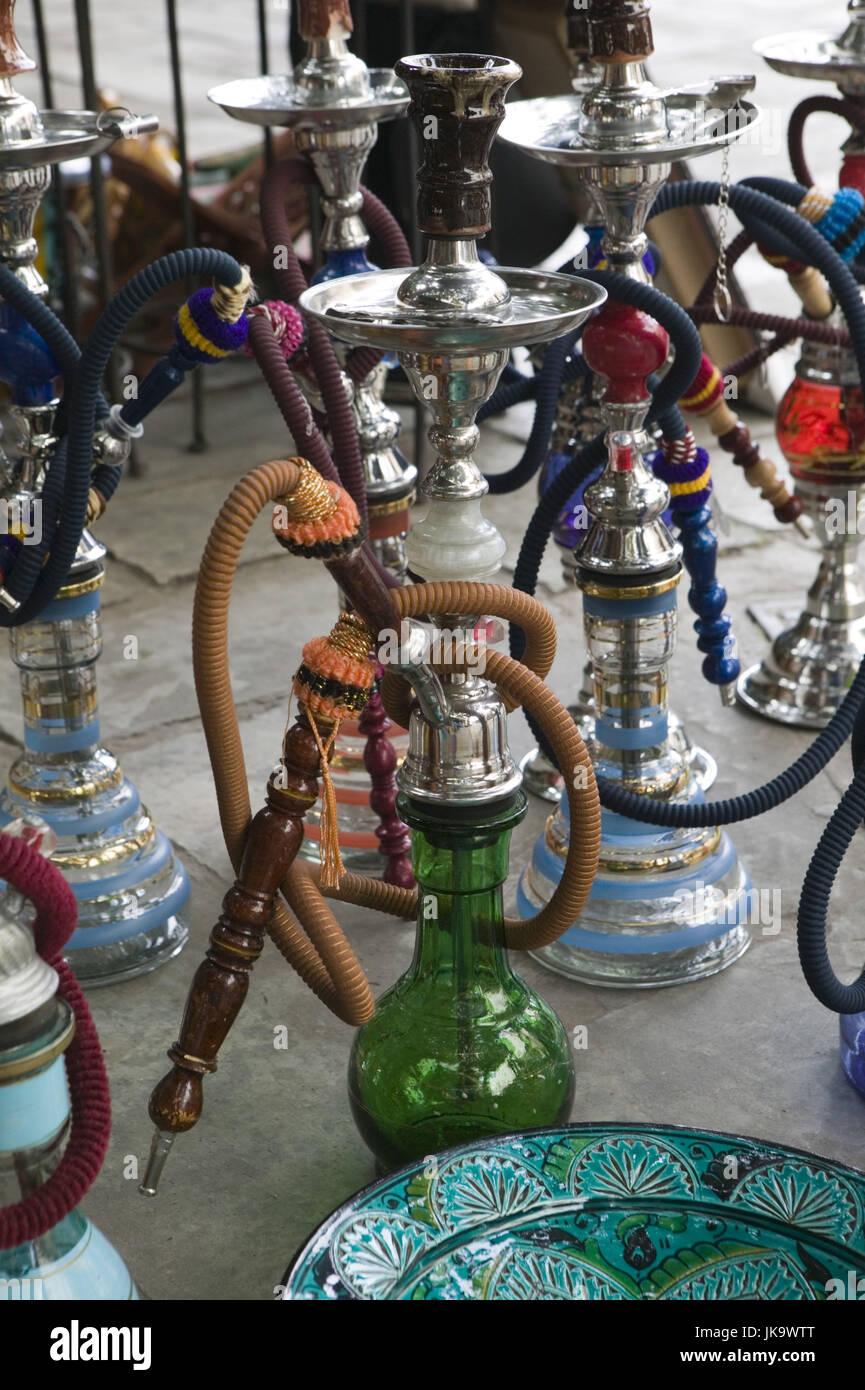 Marokko, Casablanca, Quartier Habous,  Souvenirgeschäft, Wasserpfeifen, Detail,   Stadt, Stadtteil, Geschäft, - Stock Image