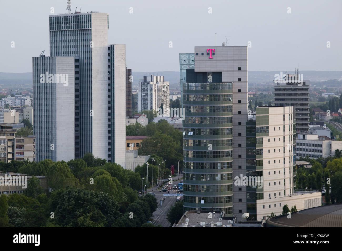 Kroatien, Zagreb, Stadtansicht, Hochhäuser, - Stock Image