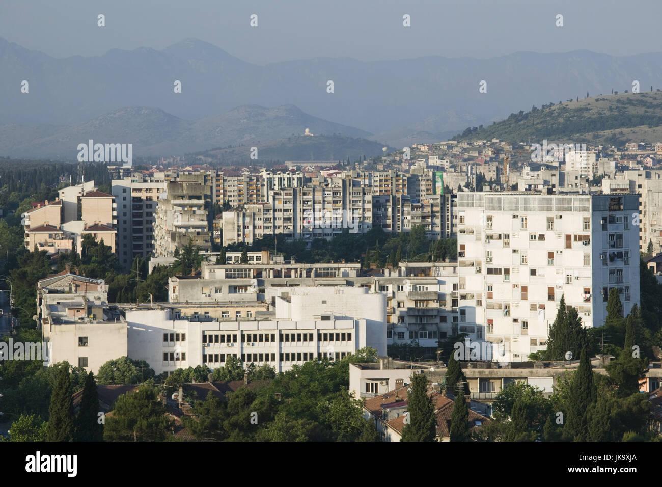 Montenegro, Podgorica, Hauptstadt, Stadtansicht, - Stock Image