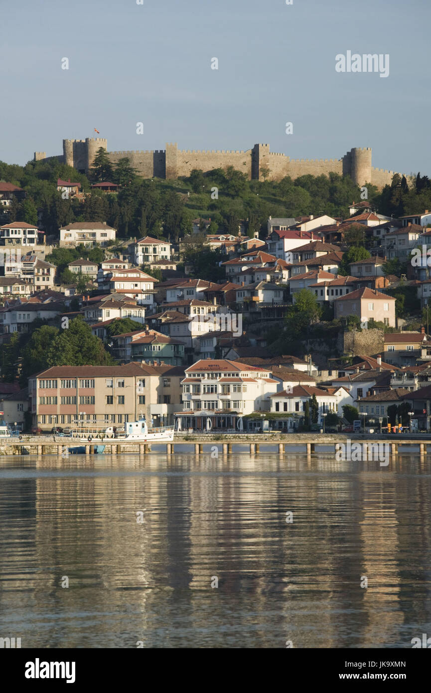 Mazedonien, Ohrid, Festung, Altstadt, Ohrid-See, Morgens, Stock Photo