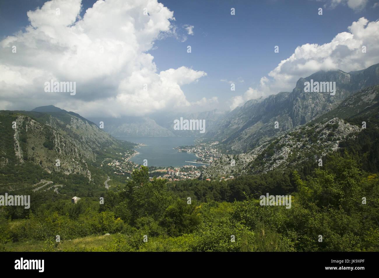 Montenegro, Berglandschaft, Küste, Meer, Bucht, Kotor, - Stock Image
