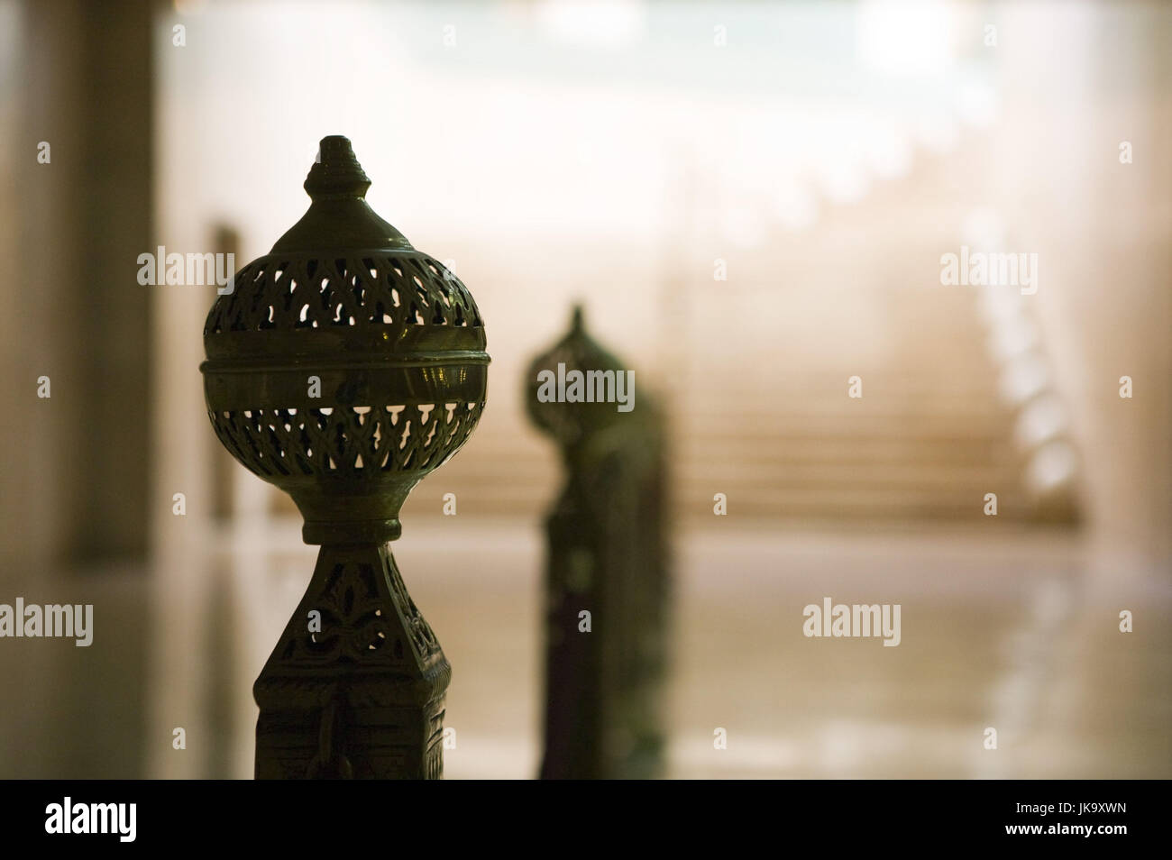Marokko, Casablanca, Moschee Hassan II., Treppengeländer, Detail, Stock Photo