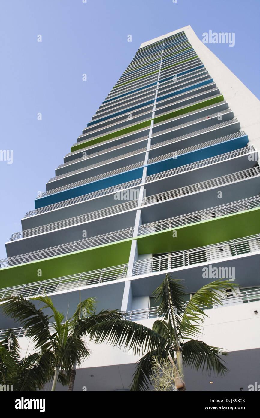 USA, Florida, Miami, Harborfront,  Hochhaus, Perspektive,   Nordamerika, Stadt, Großstadt, Haus, Gebäude, - Stock Image