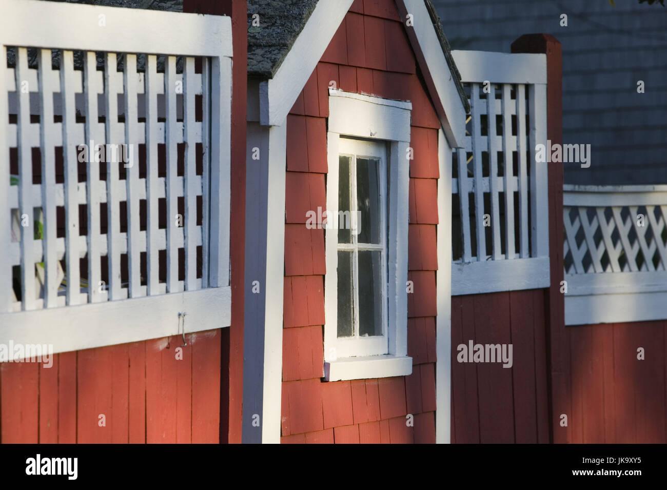 USA, Massachusetts, Cape Cod,  Provincetown, Landhaus, Detail,   Nordamerika, Reiseziel, Bauweise, landestypisch, - Stock Image