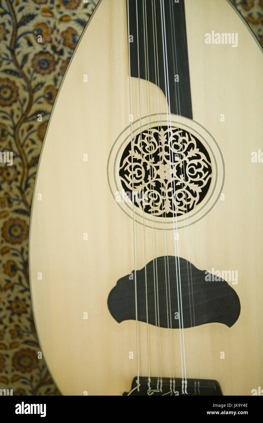 Musikinstrument, Laute, Nahaufnahme, Detail, - Stock Image