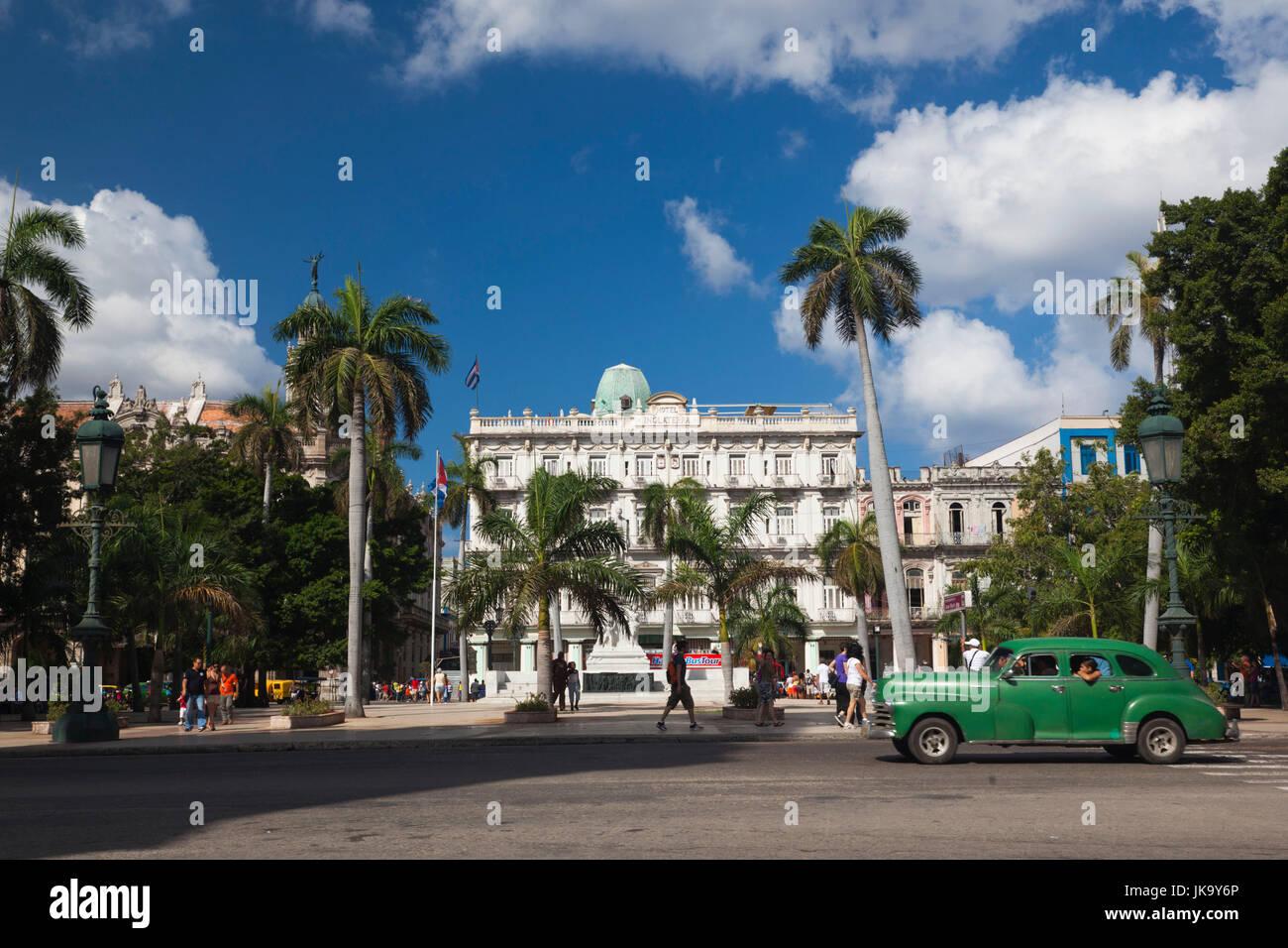 Cuba, Havana, Havana Vieja, the Parque Central and the Hotel Inglaterra - Stock Image