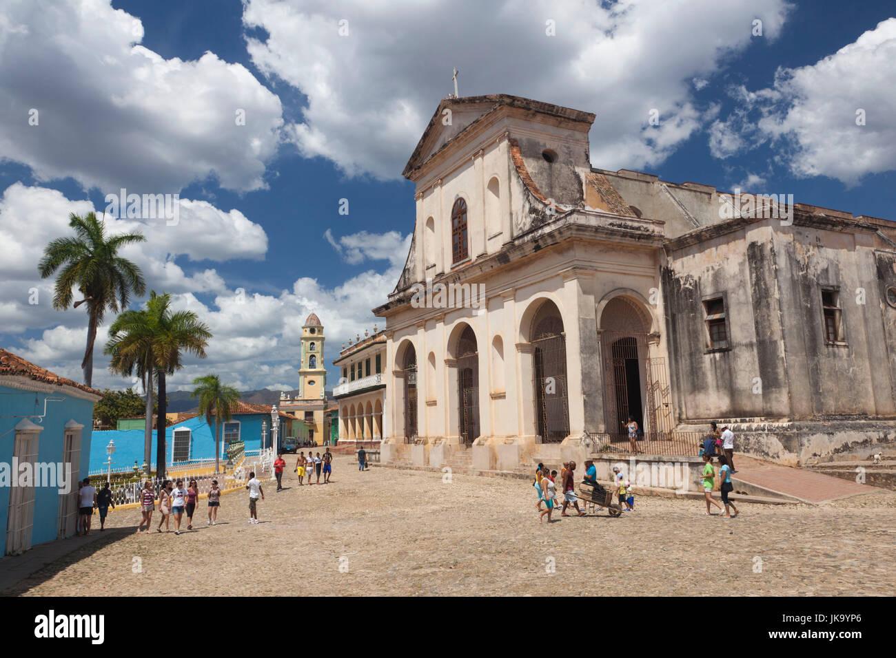 Cuba, Sancti Spiritus Province, Trinidad, Iglesia Parroquial de la Santisima Trinidad, Holy Trinity Church Stock Photo