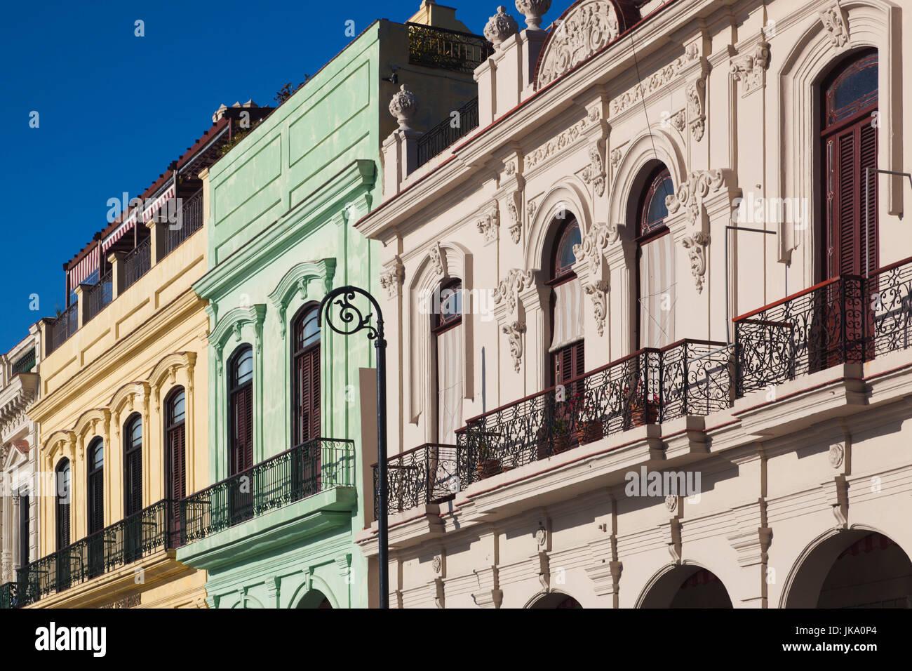 Cuba, Havana, Havana Vieja, harborfront buidings - Stock Image