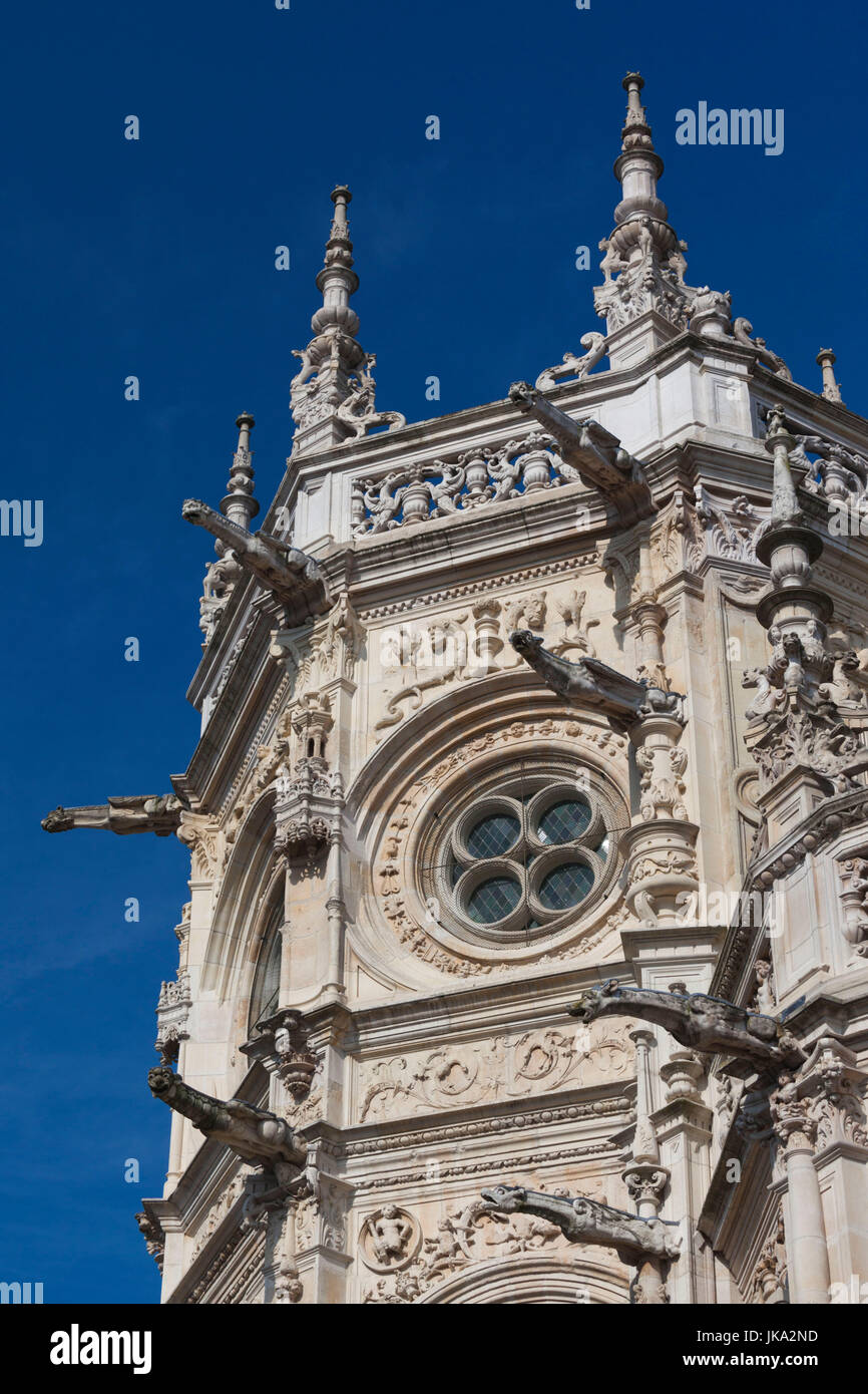France, Normandy Region, Calvados Department, Caen, Place St-Pierre, Eglise St-Pierre church, details - Stock Image