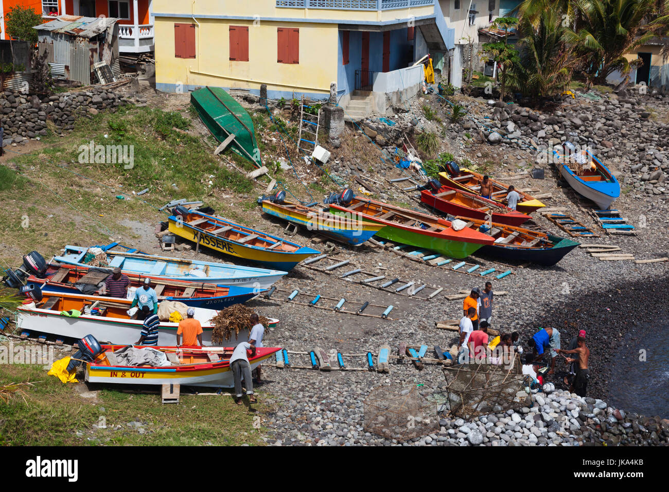 Dominica, Roseau, Grand Bay Area, Fond St. Jean town view - Stock Image
