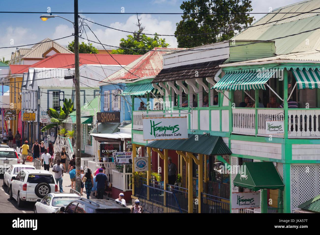 Antigua And Barbuda Antigua St Johns St Marys Street Stock
