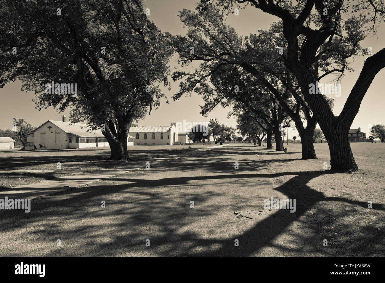 USA, Oklahoma, El Reno, Fort Reno, former Indian Wars military outpost and POW camp for German prisoners in World - Stock Image
