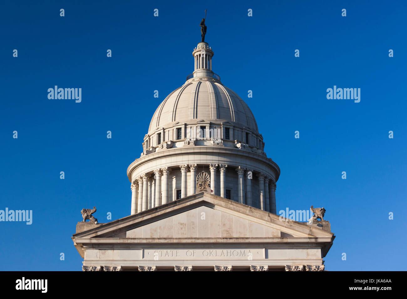 USA, Oklahoma, Oklahoma City, Oklahoma State Capitol Building Stock Photo
