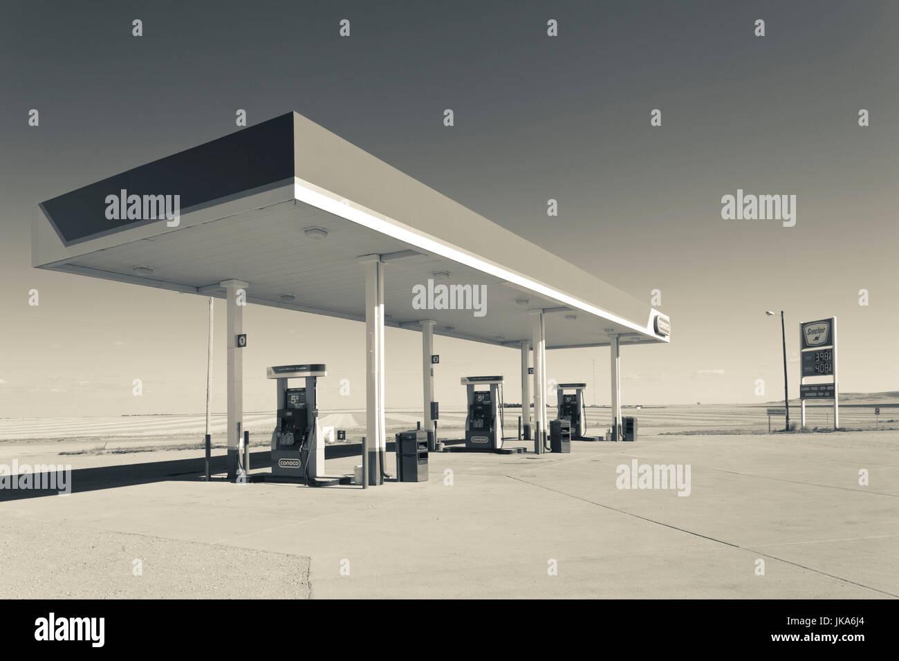 USA, South Dakota, Selby, gas station - Stock Image